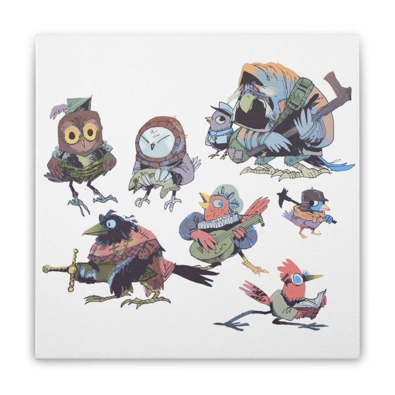 Bird People Home Stretched Canvas by Kyle Ferrin's Artist Shop