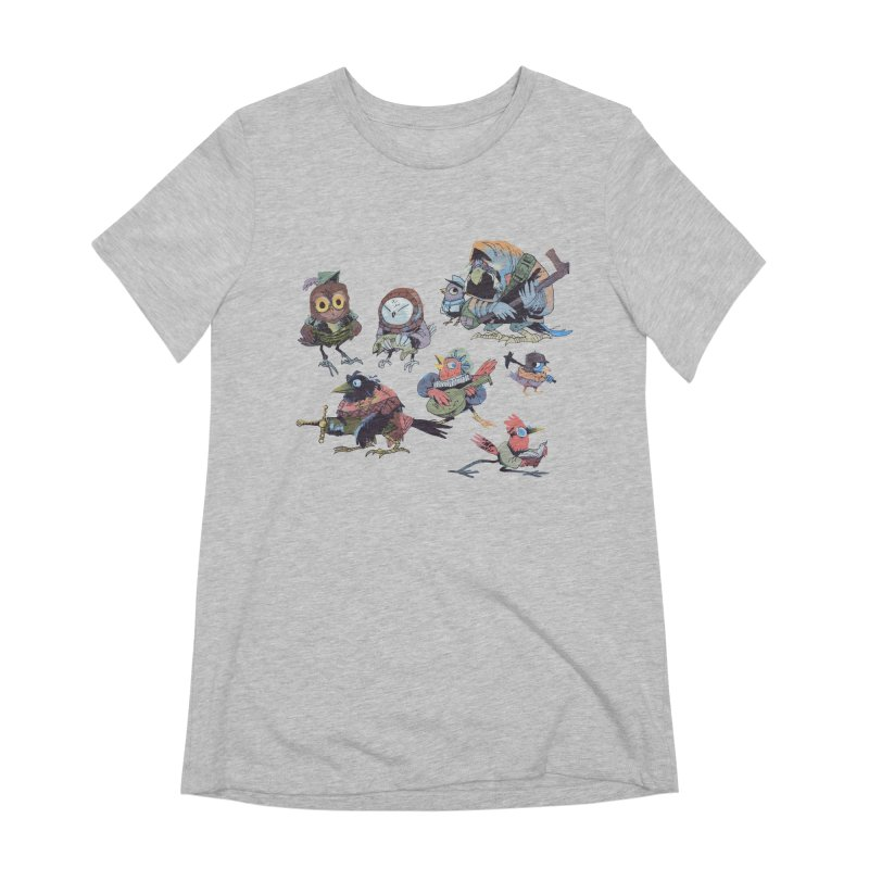 Bird People Women's Extra Soft T-Shirt by Kyle Ferrin's Artist Shop