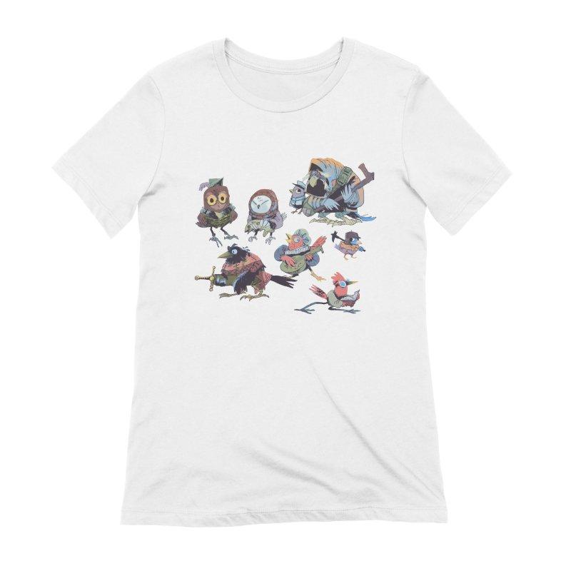 Bird People Women's Extra Soft T-Shirt by Kyle Ferrin's Artist Shop