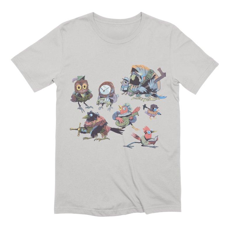 Bird People Men's Extra Soft T-Shirt by Kyle Ferrin's Artist Shop