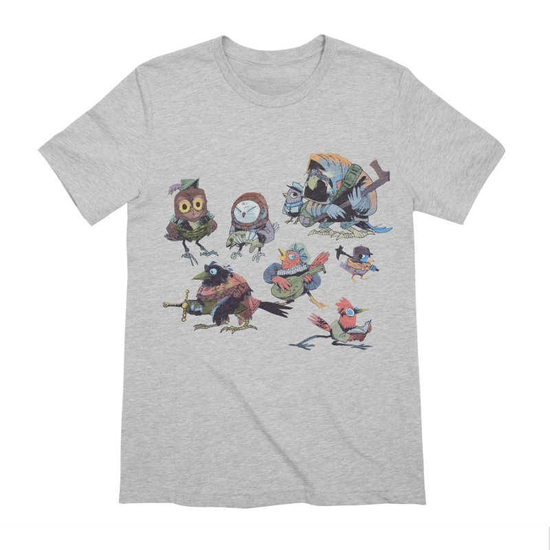 Bird People Men's Extra Soft T-Shirt by Kyle Ferrin's Artist Shop