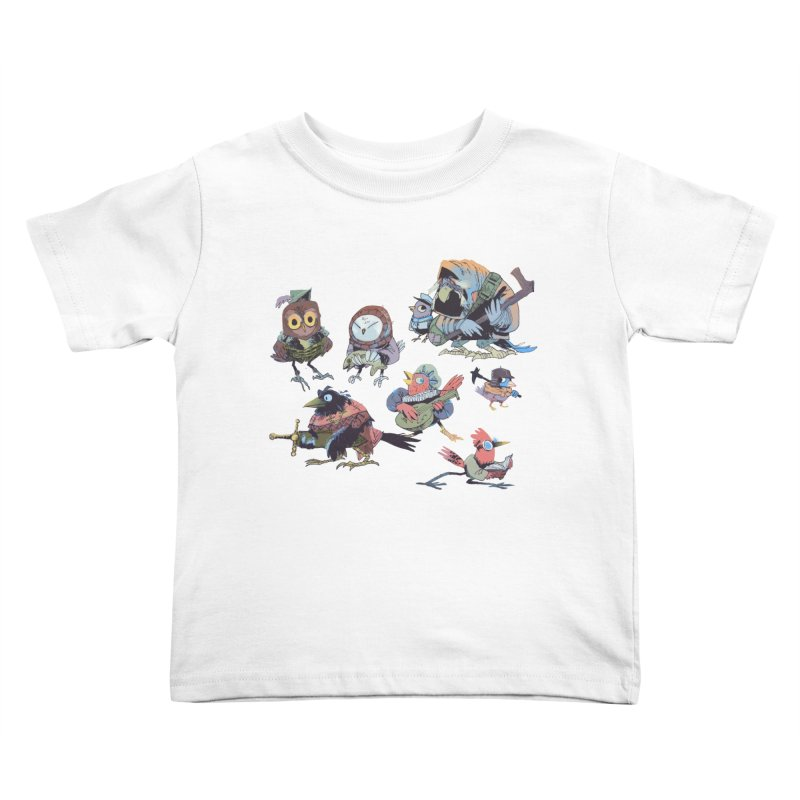 Bird People Kids Toddler T-Shirt by Kyle Ferrin's Artist Shop