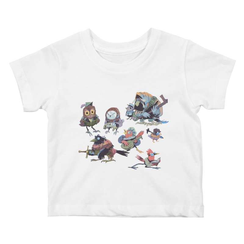 Bird People Kids Baby T-Shirt by Kyle Ferrin's Artist Shop