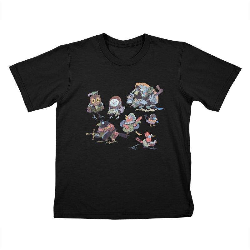 Bird People Kids T-Shirt by Kyle Ferrin's Artist Shop