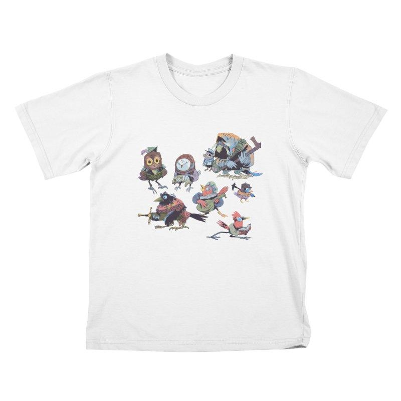 Bird People Kids Toddler T-Shirt by Kyle Ferrin's Artist Shop