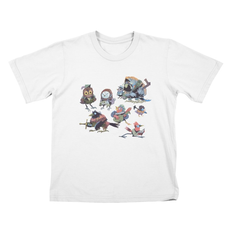 Bird People Kids T-shirt by Kyle Ferrin's Artist Shop