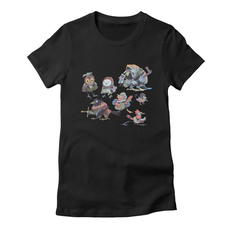 Bird People Women's Fitted T-Shirt by Kyle Ferrin's Artist Shop