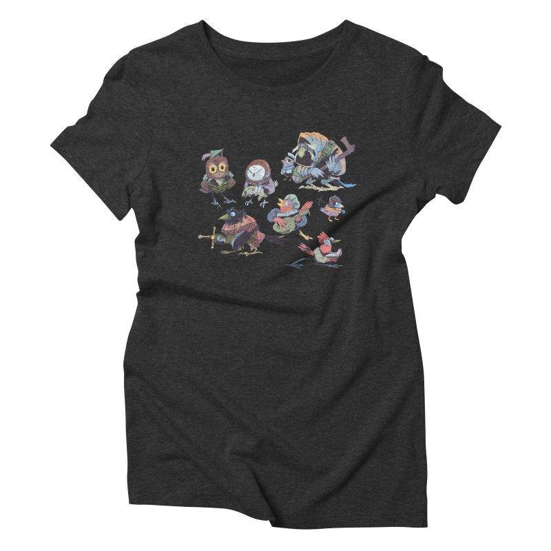 Bird People Women's Triblend T-Shirt by Kyle Ferrin's Artist Shop