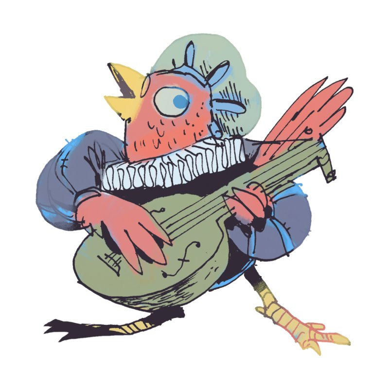 Bird Bard Men's Zip-Up Hoody by Kyle Ferrin's Artist Shop