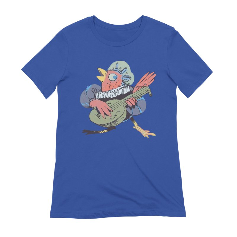 Bird Bard Women's Extra Soft T-Shirt by Kyle Ferrin's Artist Shop