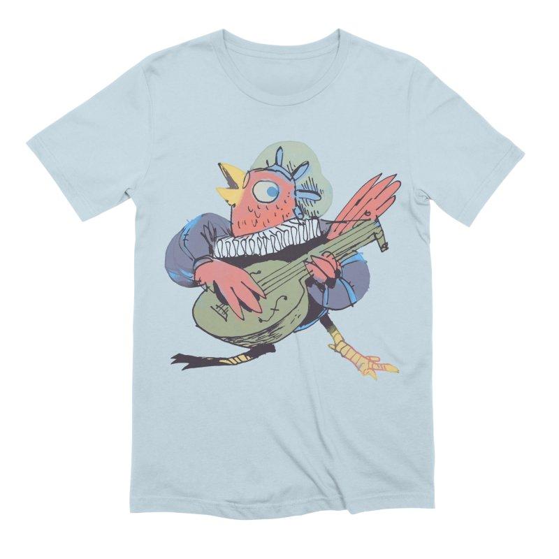Bird Bard Men's Extra Soft T-Shirt by Kyle Ferrin's Artist Shop