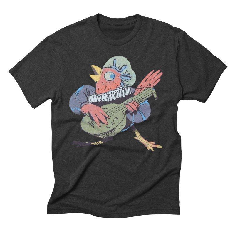Bird Bard Men's Triblend T-Shirt by Kyle Ferrin's Artist Shop
