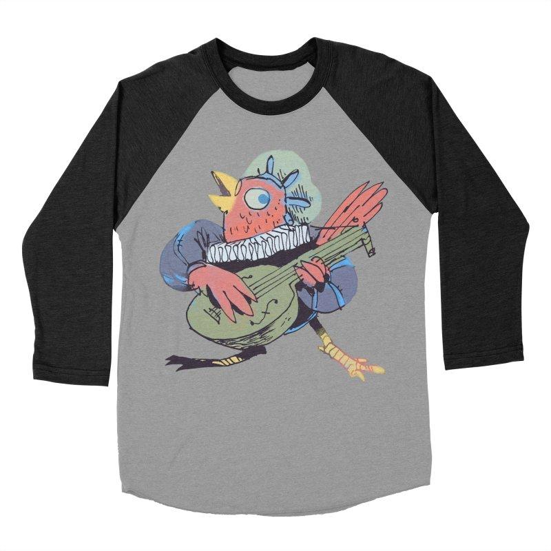 Bird Bard Men's Baseball Triblend Longsleeve T-Shirt by Kyle Ferrin's Artist Shop
