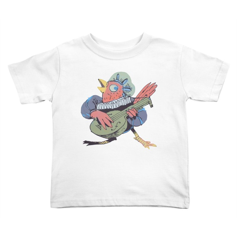 Bird Bard Kids Toddler T-Shirt by Kyle Ferrin's Artist Shop