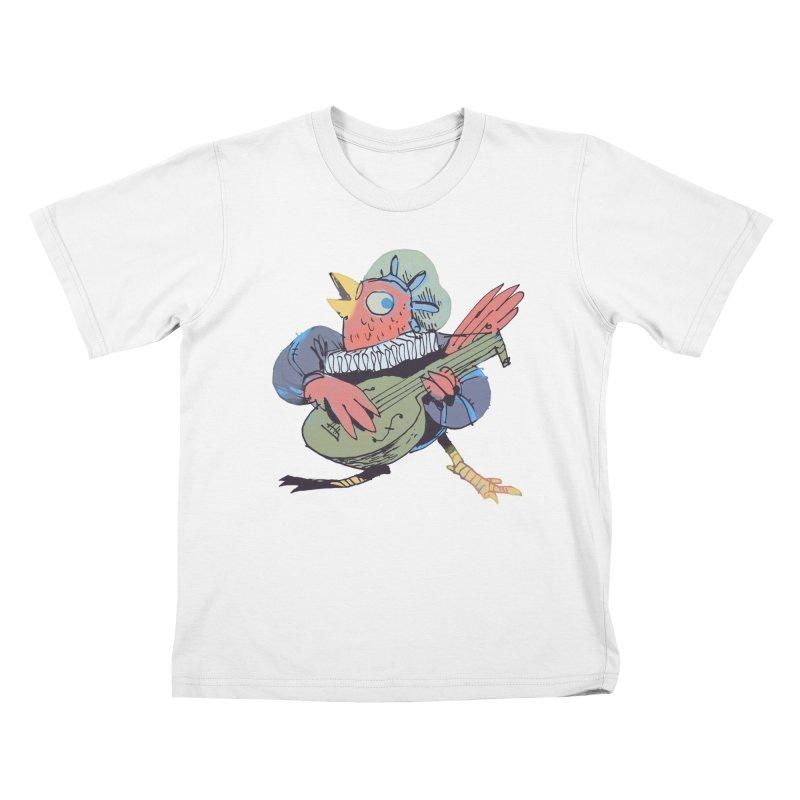 Bird Bard Kids T-Shirt by Kyle Ferrin's Artist Shop