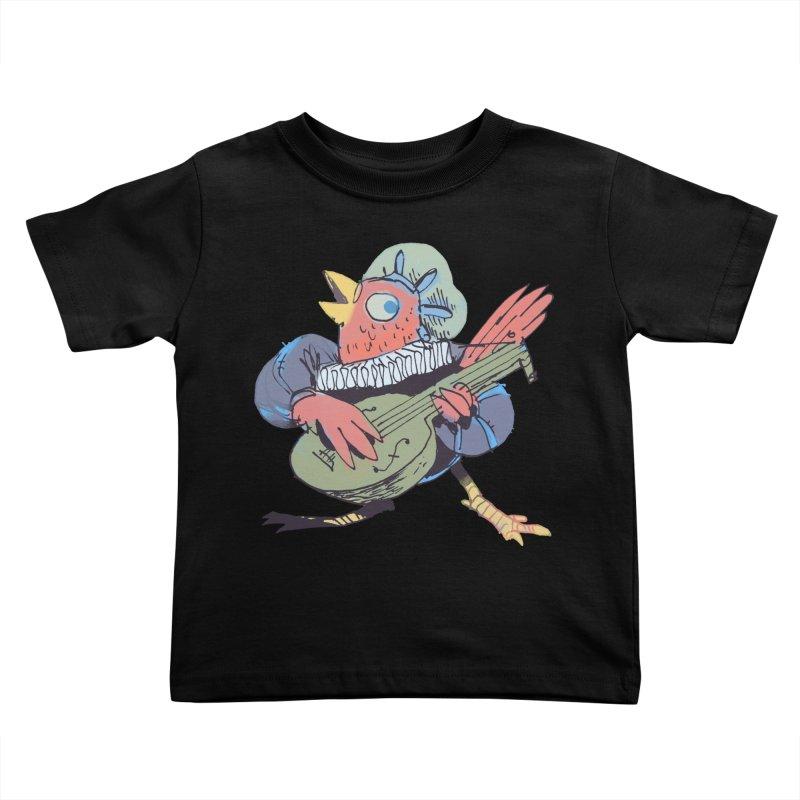 Bird Bard Kids Toddler T-Shirt by Kyle Ferrin's Artist Shop
