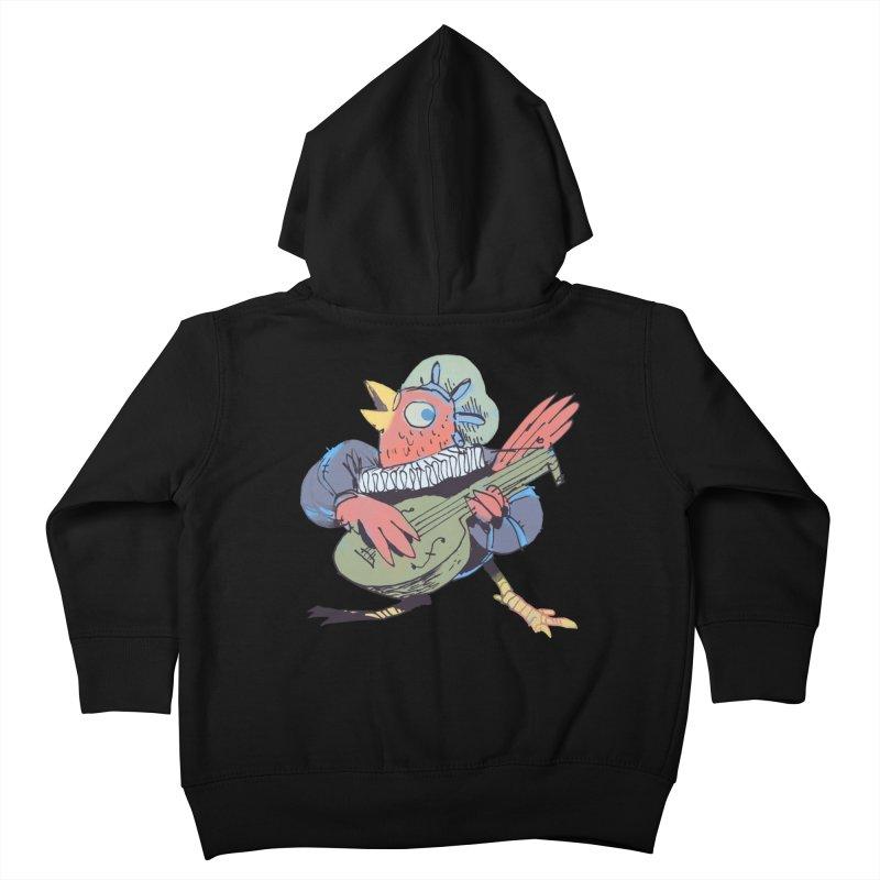 Bird Bard Kids Toddler Zip-Up Hoody by Kyle Ferrin's Artist Shop