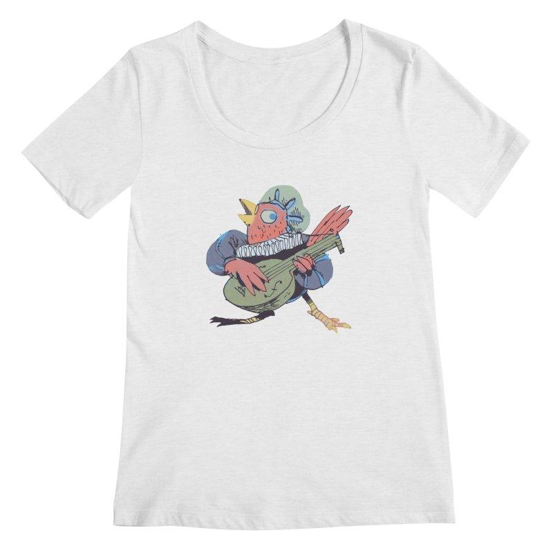 Bird Bard Women's Regular Scoop Neck by Kyle Ferrin's Artist Shop