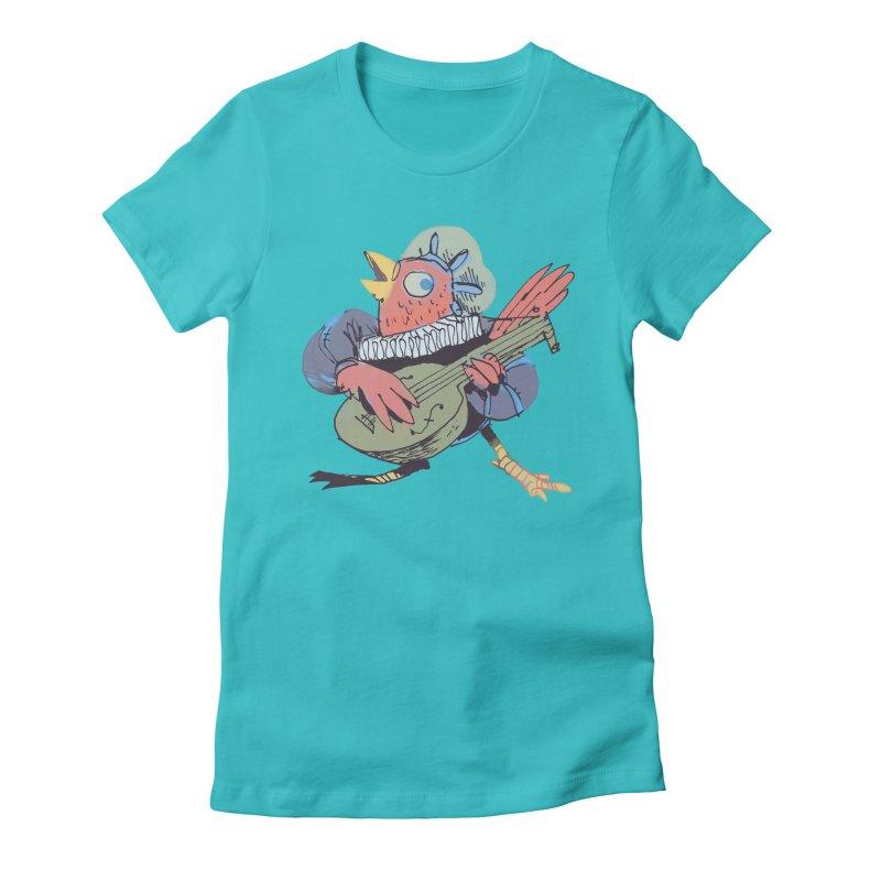Bird Bard Women's Fitted T-Shirt by Kyle Ferrin's Artist Shop