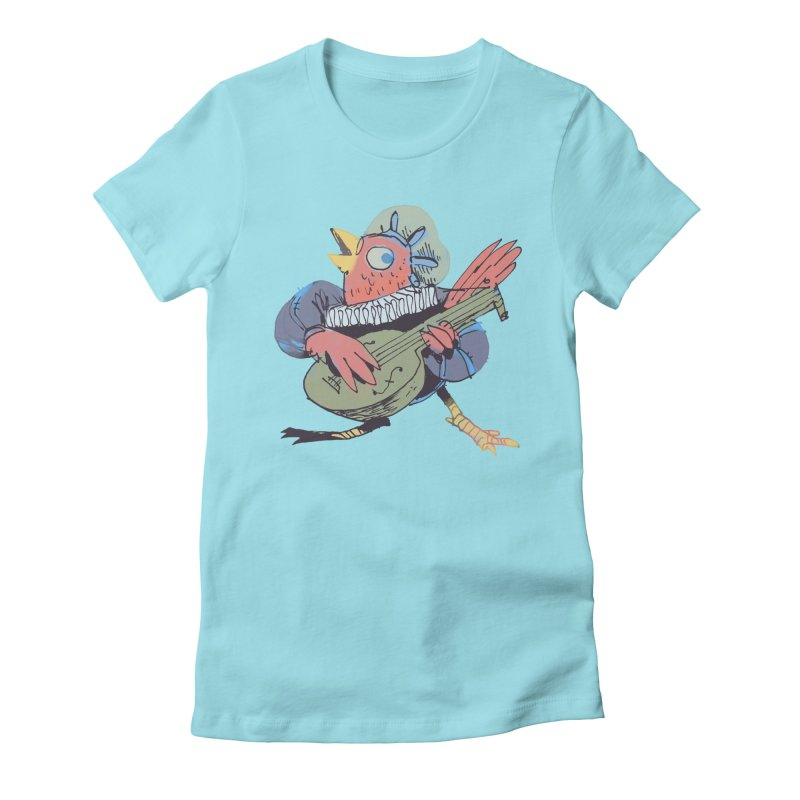 Bird Bard in Women's Fitted T-Shirt Cancun by Kyle Ferrin's Artist Shop