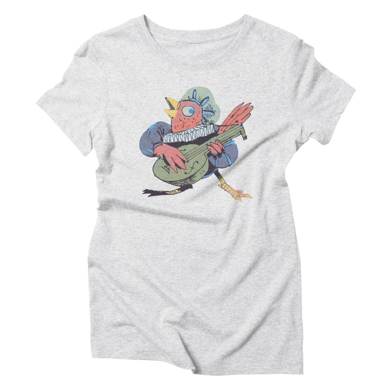 Bird Bard Women's Triblend T-shirt by Kyle Ferrin's Artist Shop