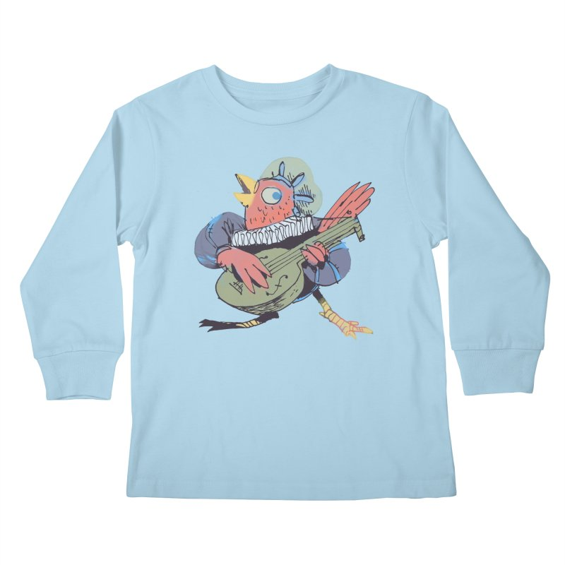 Bird Bard Kids Longsleeve T-Shirt by Kyle Ferrin's Artist Shop