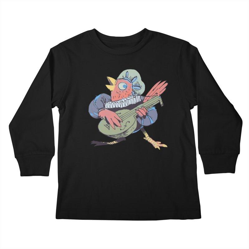 Bird Bard Kids Longsleeve T-Shirt by Kyle Ferrin's Artist Shop