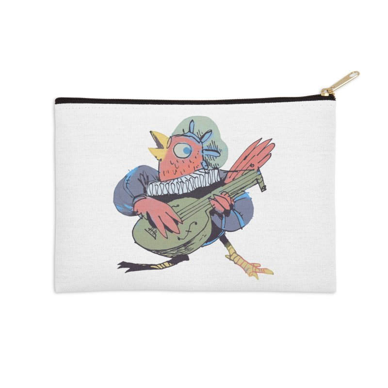 Bird Bard Accessories Zip Pouch by Kyle Ferrin's Artist Shop