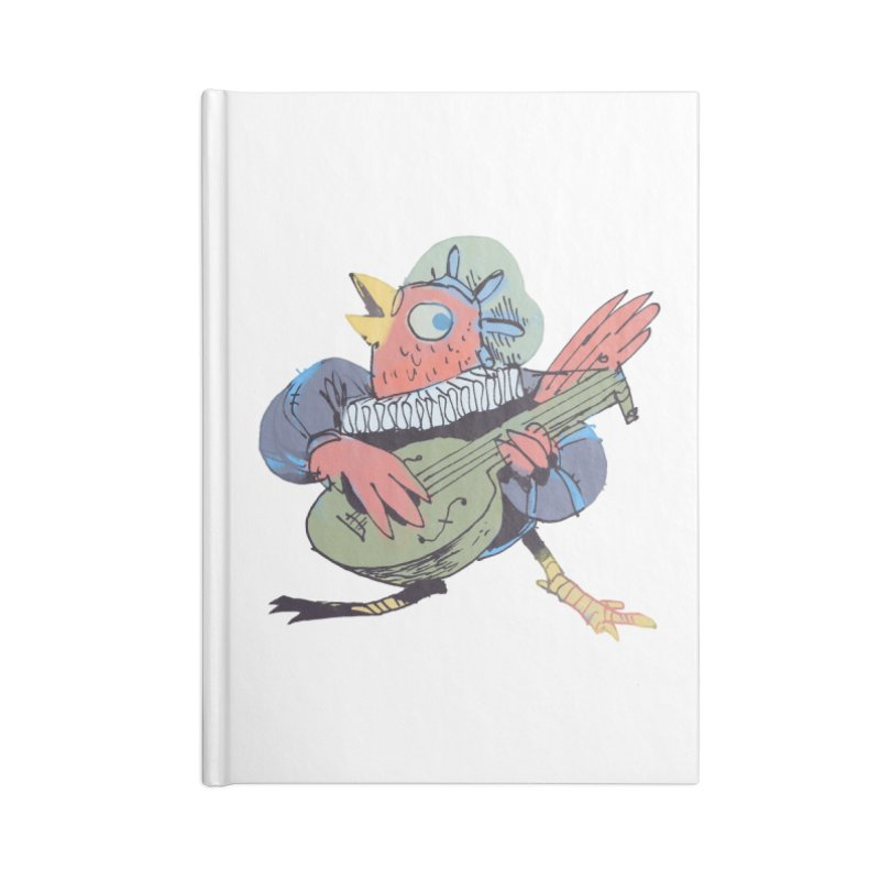 Bird Bard Accessories Lined Journal Notebook by Kyle Ferrin's Artist Shop