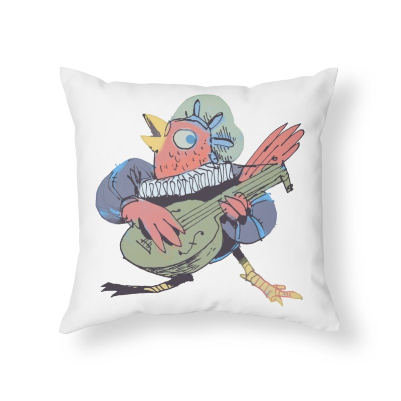 Bird Bard Home Throw Pillow by Kyle Ferrin's Artist Shop