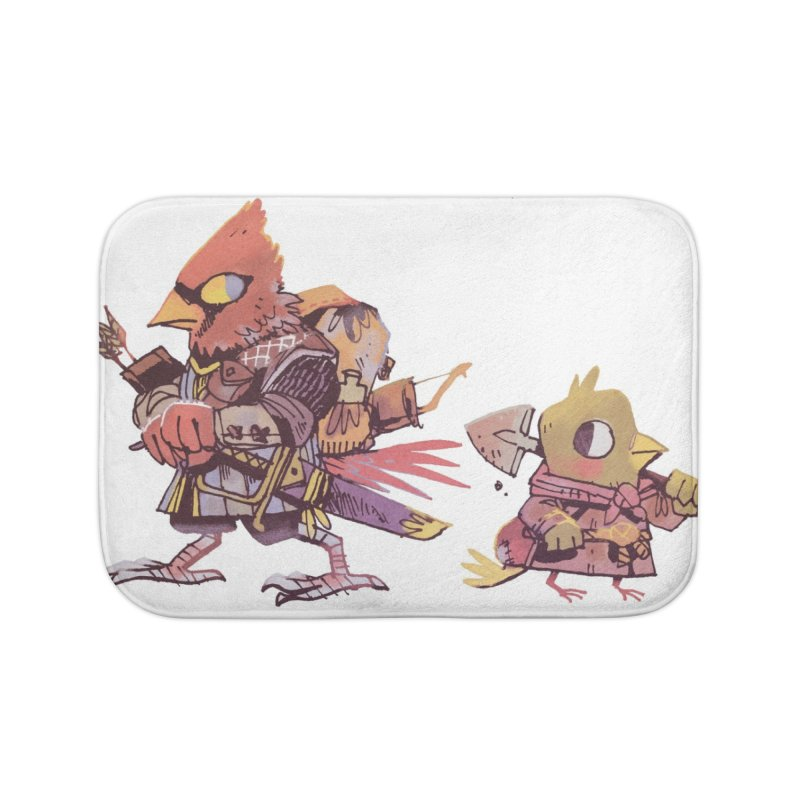 Bird Mercenaries Home Bath Mat by Kyle Ferrin's Artist Shop