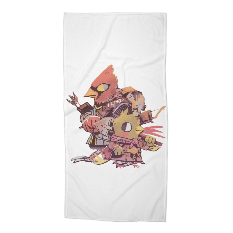 Bird Mercenaries Accessories Beach Towel by Kyle Ferrin's Artist Shop