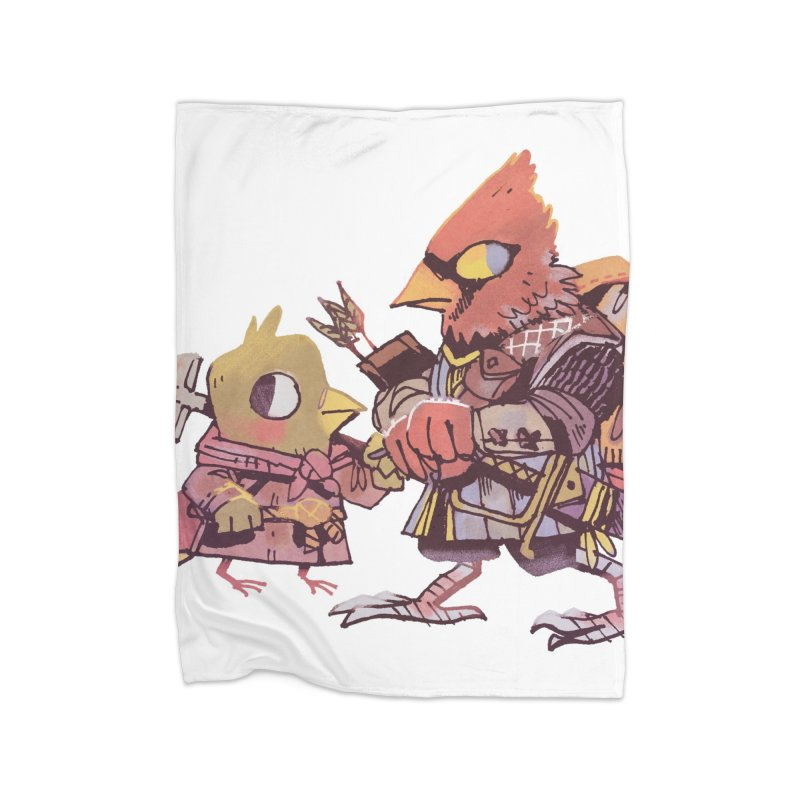 Bird Mercenaries Home Fleece Blanket Blanket by Kyle Ferrin's Artist Shop