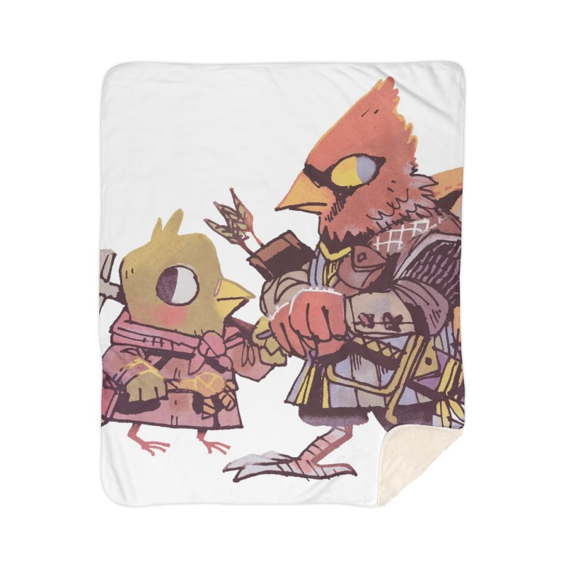Bird Mercenaries Home Sherpa Blanket Blanket by Kyle Ferrin's Artist Shop