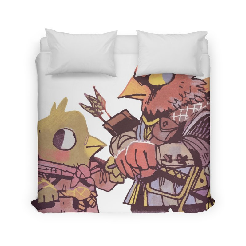 Bird Mercenaries Home Duvet by Kyle Ferrin's Artist Shop