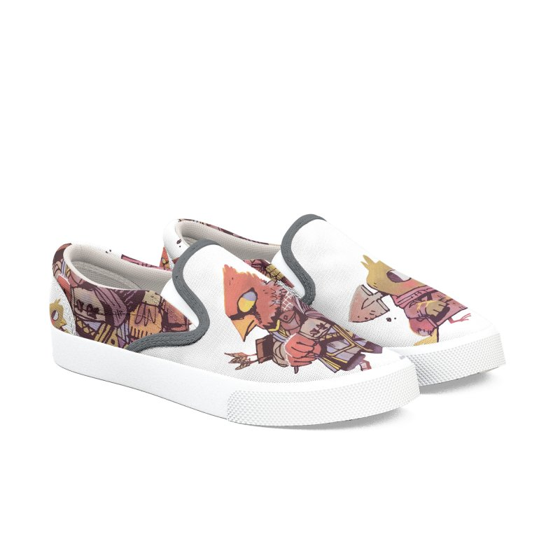 Bird Mercenaries Women's Slip-On Shoes by Kyle Ferrin's Artist Shop
