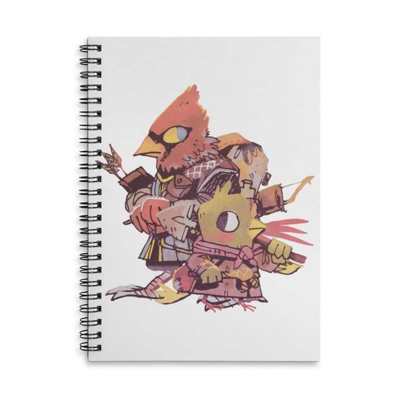 Bird Mercenaries Accessories Lined Spiral Notebook by Kyle Ferrin's Artist Shop