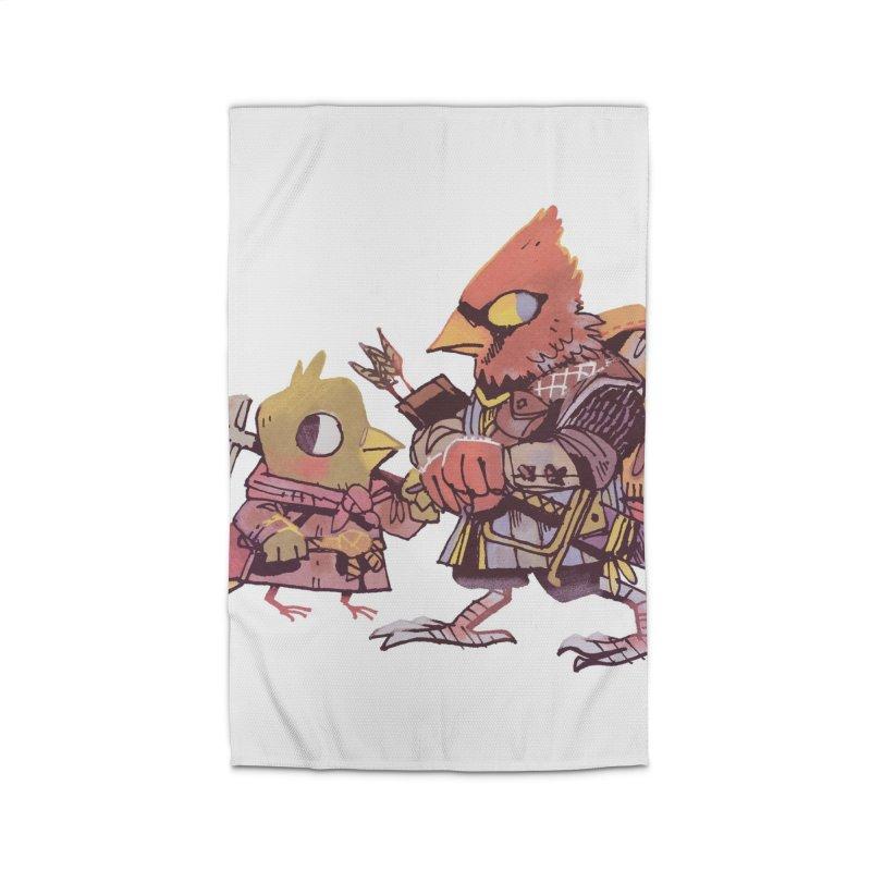 Bird Mercenaries Home Rug by Kyle Ferrin's Artist Shop