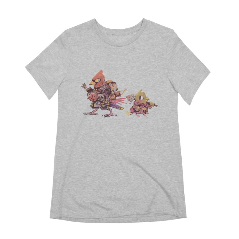 Bird Mercenaries Women's Extra Soft T-Shirt by Kyle Ferrin's Artist Shop
