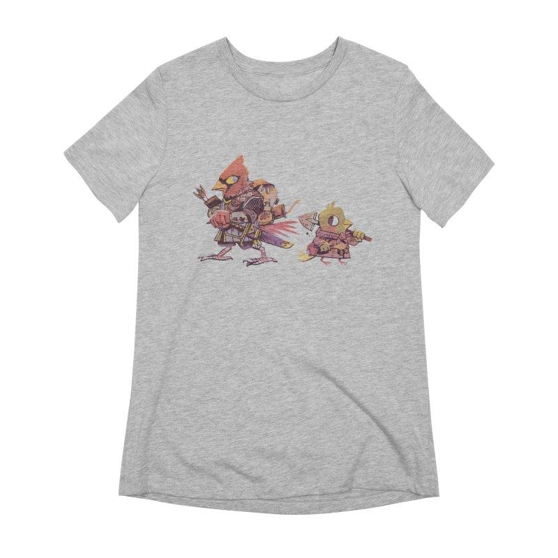 Bird Mercenaries Women's Extra Soft T-Shirt by Kyle Ferrin's Artist Shop