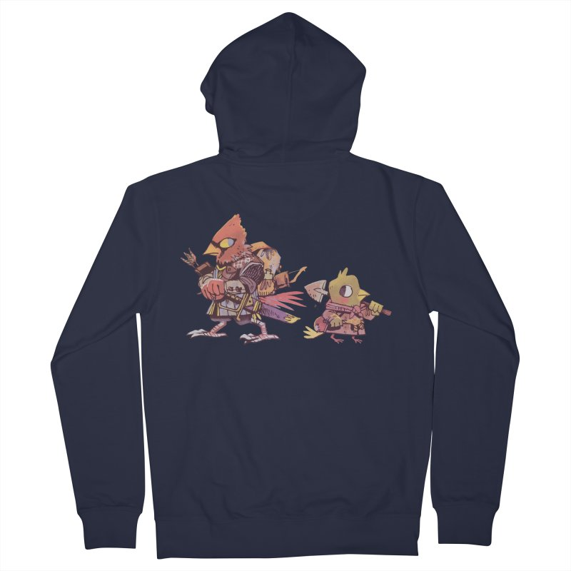 Bird Mercenaries Women's French Terry Zip-Up Hoody by Kyle Ferrin's Artist Shop