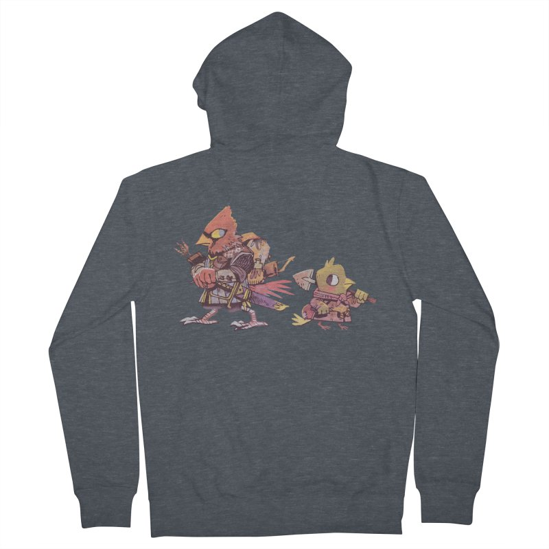 Bird Mercenaries Men's French Terry Zip-Up Hoody by Kyle Ferrin's Artist Shop