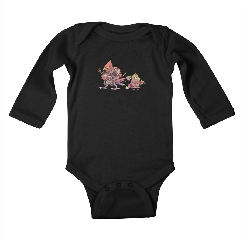 Bird Mercenaries Kids Baby Longsleeve Bodysuit by Kyle Ferrin's Artist Shop