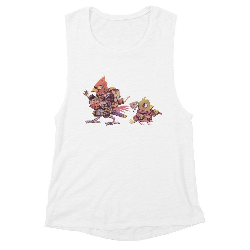 Bird Mercenaries Women's Muscle Tank by Kyle Ferrin's Artist Shop
