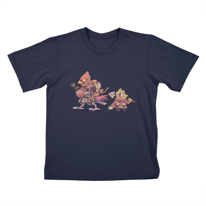 Bird Mercenaries Kids T-shirt by Kyle Ferrin's Artist Shop