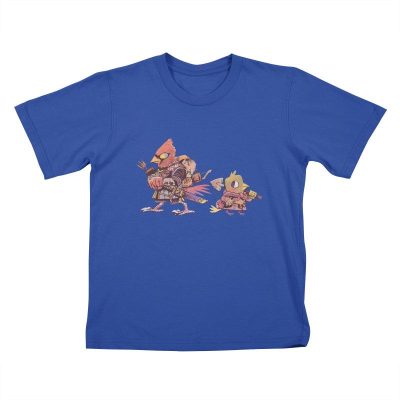 Bird Mercenaries Kids T-Shirt by Kyle Ferrin's Artist Shop