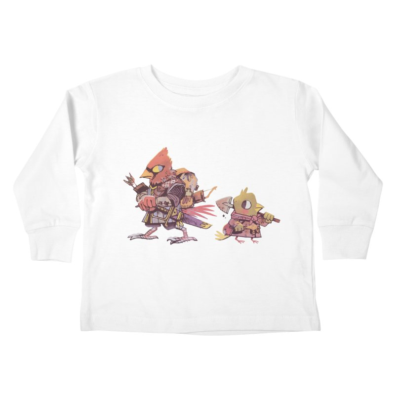 Bird Mercenaries Kids Toddler Longsleeve T-Shirt by Kyle Ferrin's Artist Shop