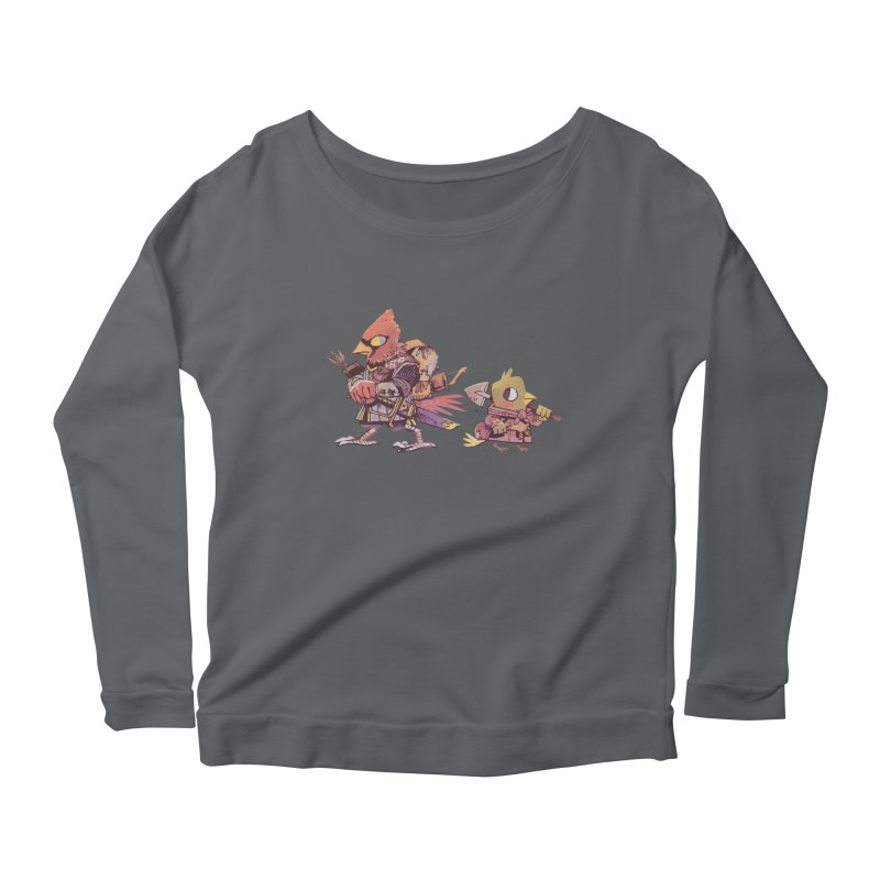 Bird Mercenaries Women's Scoop Neck Longsleeve T-Shirt by Kyle Ferrin's Artist Shop