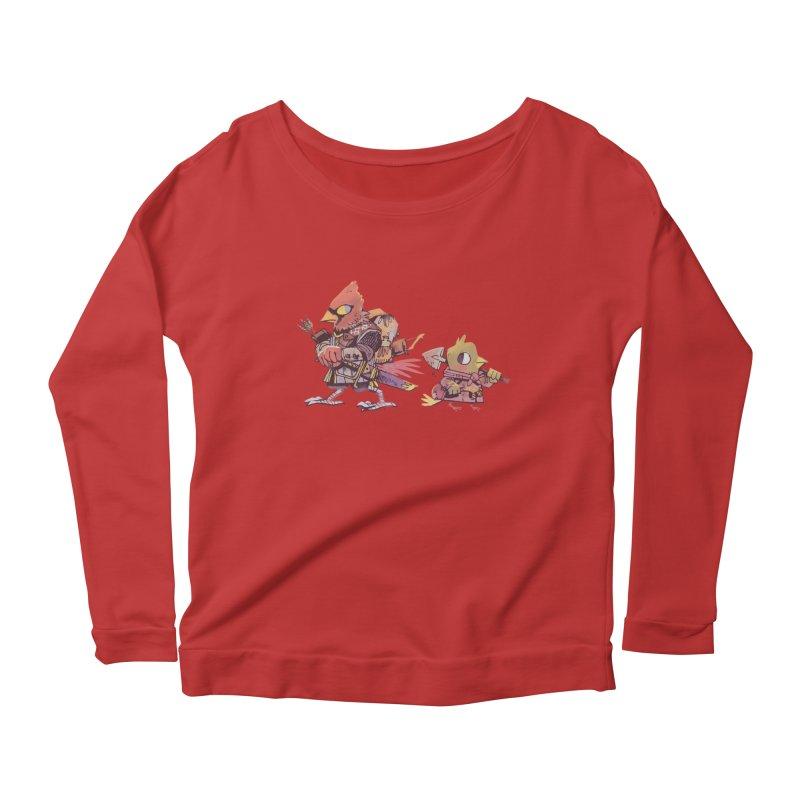 Bird Mercenaries Women's Scoop Neck Longsleeve T-Shirt by Kyle Ferrin's Artist Shop