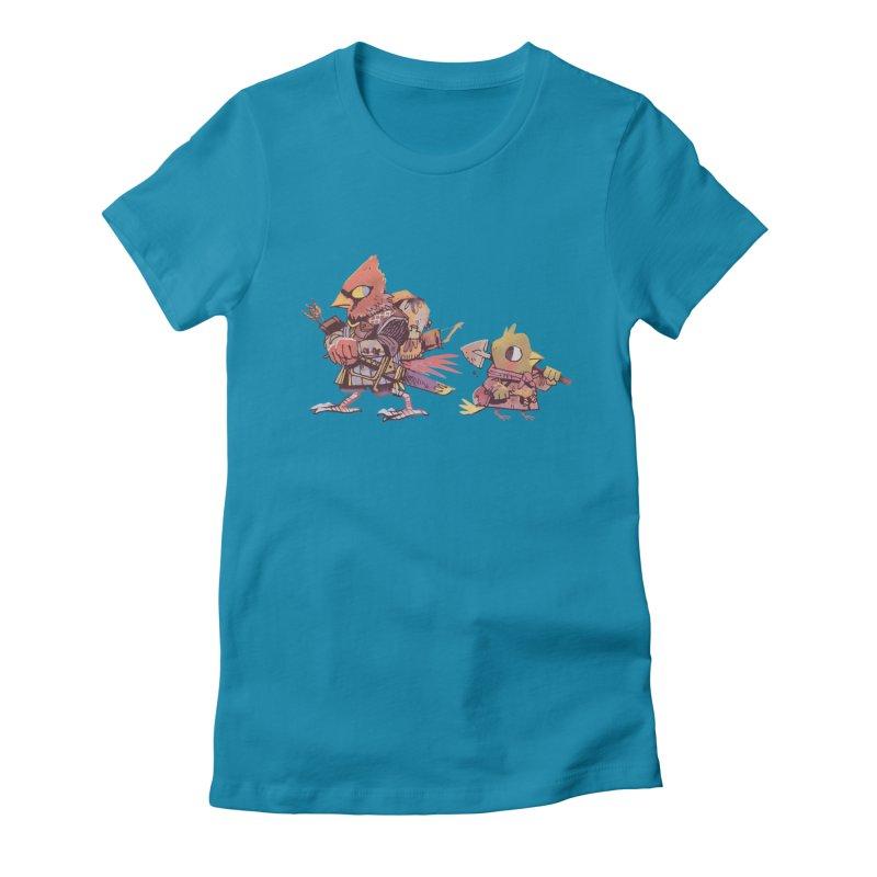Bird Mercenaries Women's Fitted T-Shirt by Kyle Ferrin's Artist Shop